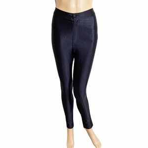 American Apparel High Waisted Black Disco Pants